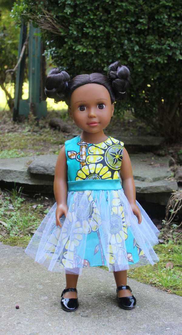 Medium Brown Skin Tone Doll with Braided buns