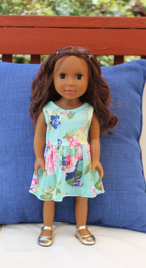 Summer Blue Doll Dress