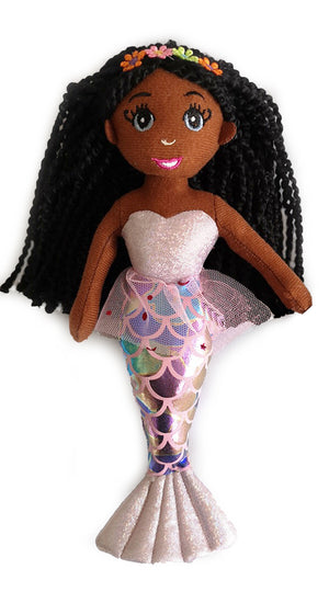 NEW Medium Brown Skin Tone Mermaid Doll