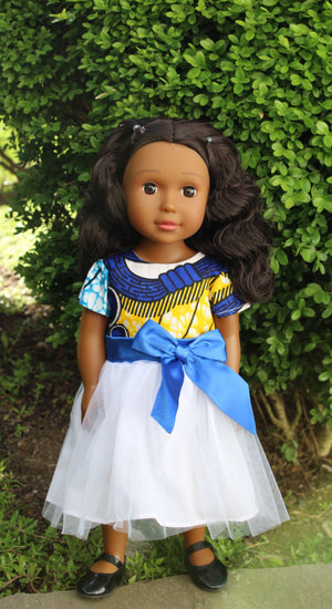 Medium Brown Skin Tone Doll With Wavy Hair