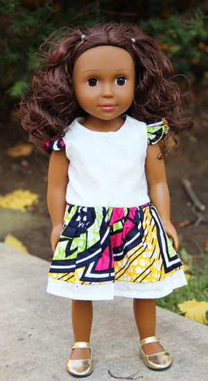 brown girl doll with curly hair