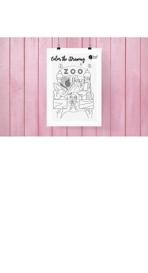 Downloadable Zoo Coloring Page