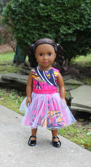Medium Brown Skin Tone Doll with Braided Pigtails