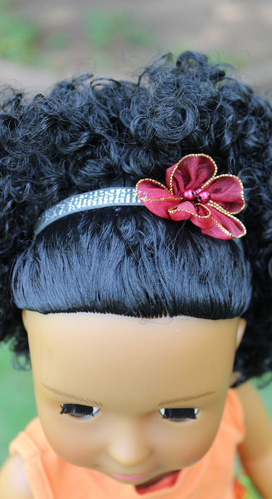 flower head band for 18 inch dolls