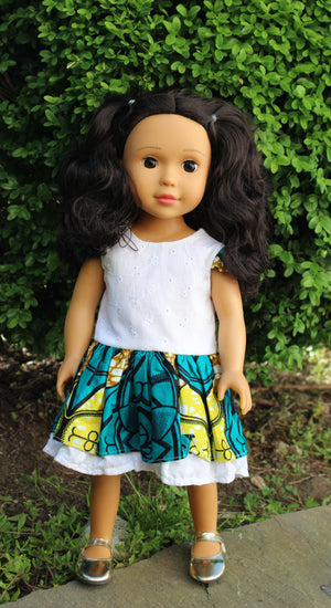 Light Brown Skin Tone Doll Long Wavy Hair