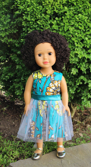 Light Brown Skin Tone Doll Curly Afro