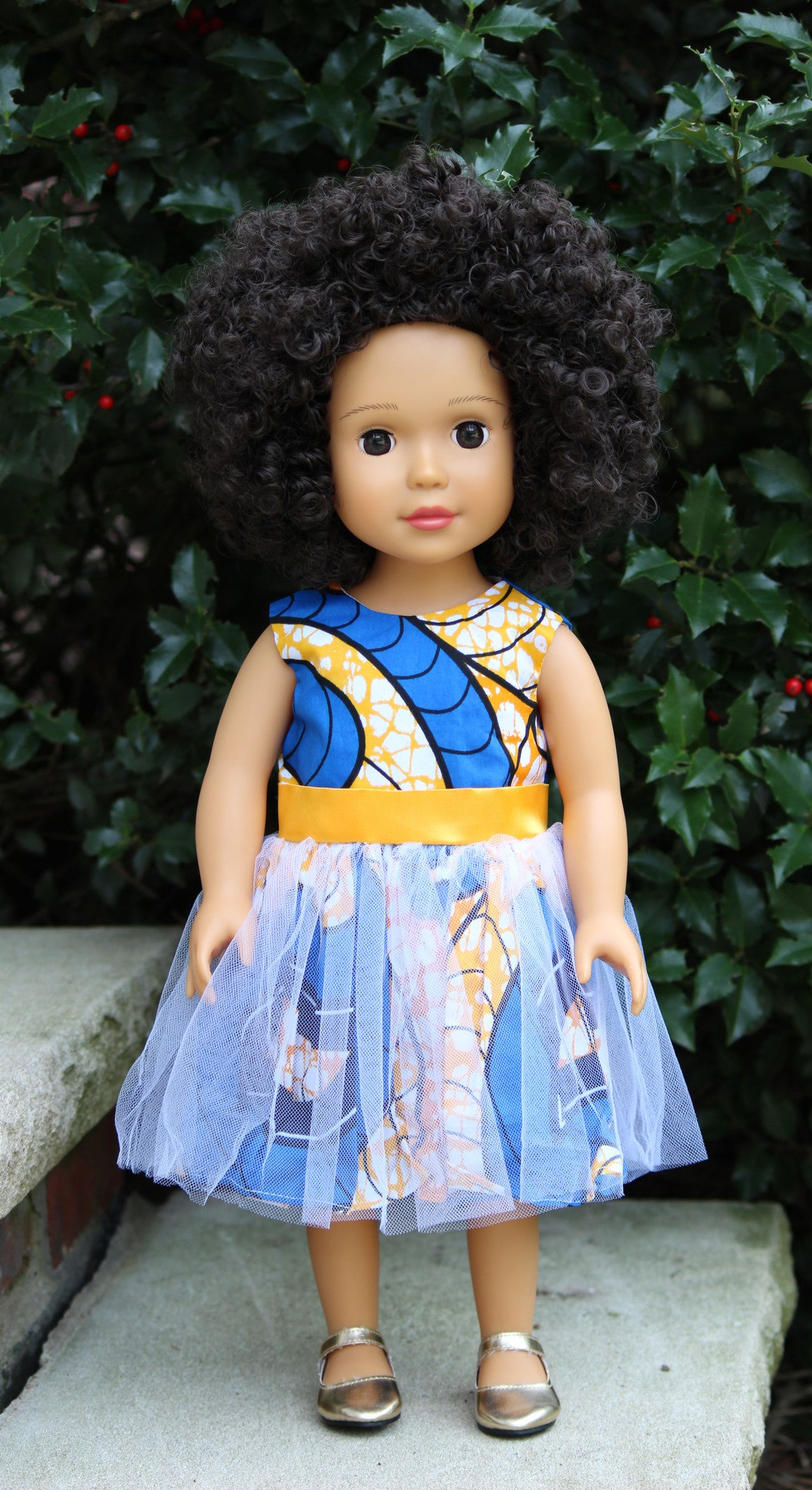 African American 18 Inch Doll With Medium Brown Skin Tone