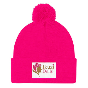 Pom Pom Knit Cap for Girls