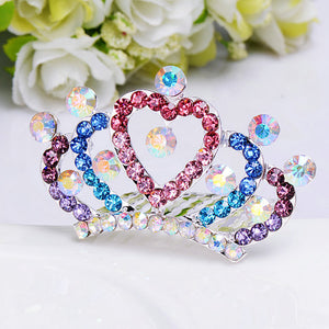 "Rhinestone Multicolored Tiara for 18"" dolls"