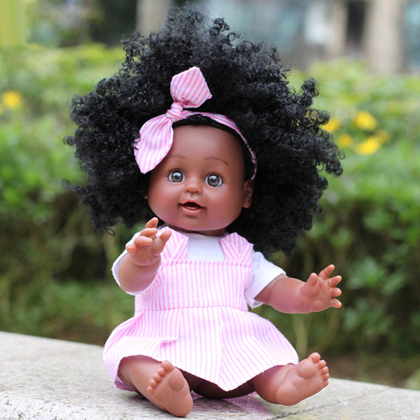 Dark Brown Skin Baby Doll Girl