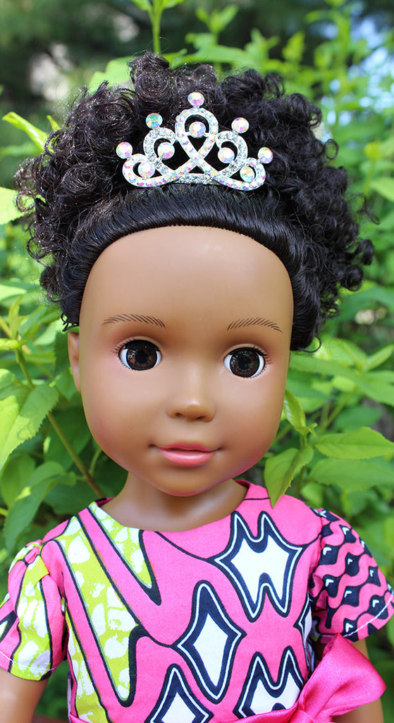african american doll with crystal tiara