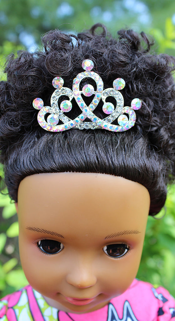 18 inch doll tiara Ikuzi dolls for black girls