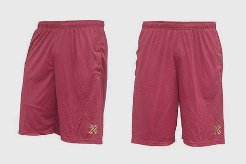 Homebrand X Shorts Maroon