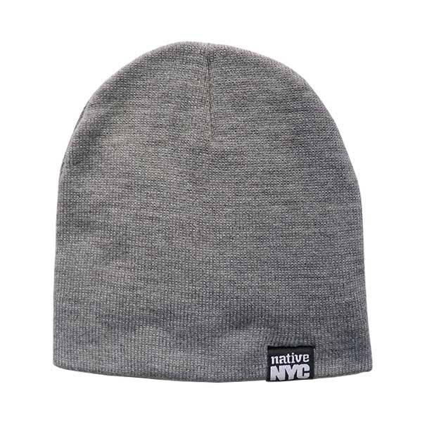 Native-NYC Grey Beanie (sale) - NativeNY