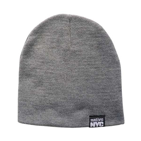 Native-NYC Grey Beanie - NativeNY