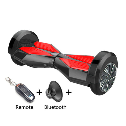 8 inch Smart Self-balancing Scooter with Built-in Bluetooth Speaker/ Led Side Light / Black - balancing-board.com - 1