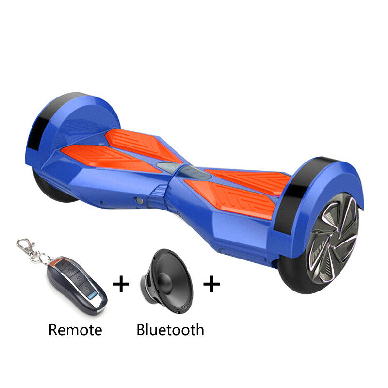 8 inch Smart Self-balancing Scooter with Built-in Bluetooth Speaker/ Led Side Light / Blue - balancing-board.com