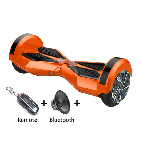 8 inch Smart Self-balancing Scooter with Built-in Bluetooth Speaker/ Led Side Light / ORANGE - balancing-board.com - 1