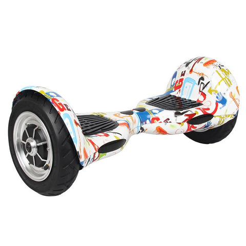 Mini Segway Electric Balancing Scooter 10 inch Graffiti White - balancing-board.com - 1