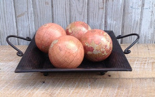 "Decorative World Globe Rust - 4"" - Set of 4 - HOME DECORATIVE ACCENTS - 2"