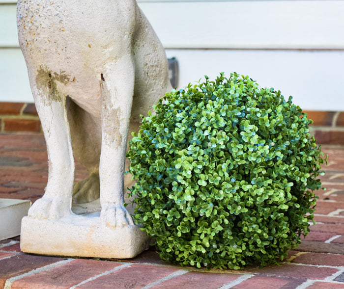 "Faux Boxwood Ball - 11""  - Set of 2 - HOME DECORATIVE ACCENTS - 1"