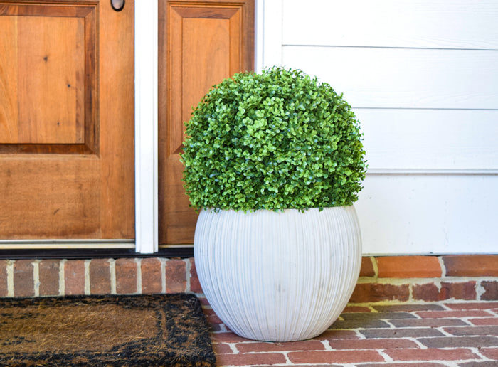 "Faux Boxwood Ball - 11""  - Set of 2 - HOME DECORATIVE ACCENTS - 2"