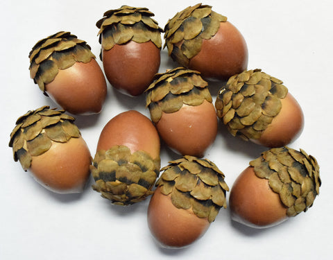 Acorn Pine Cone Tops - Set of 9