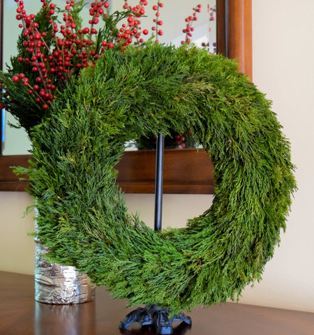 Preserved Tuscan Cypress Wreath - 14""