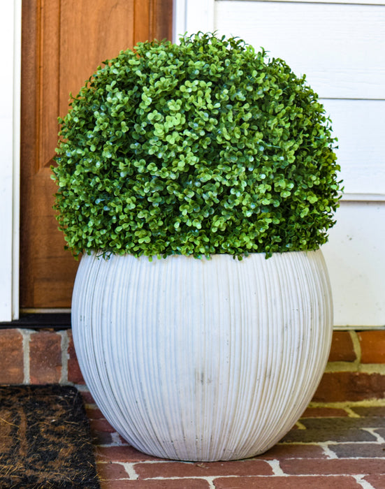 "Faux Boxwood Ball - 15"" - Set of 2 - HOME DECORATIVE ACCENTS - 2"