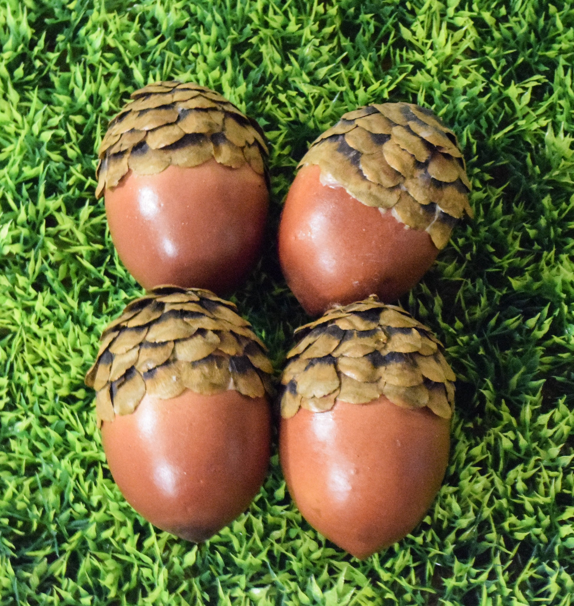 "Artificial Acorn With Pinecone Top - 2.25"" - Set of 4 - HOME DECORATIVE ACCENTS - 1"