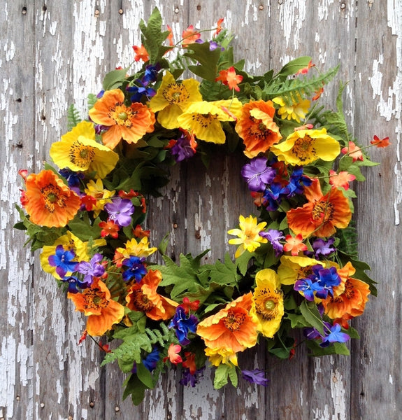Sunshine in the Meadow Wreath - 22""