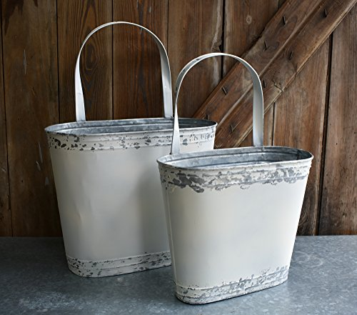 Galvanized Wall Bucket Set