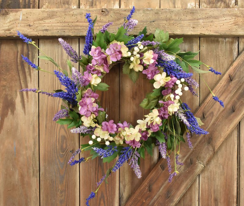 Lavender and Lilac Wreath