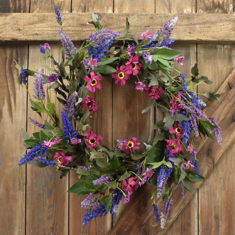 Violet Majestic Wreath - 22 Inch
