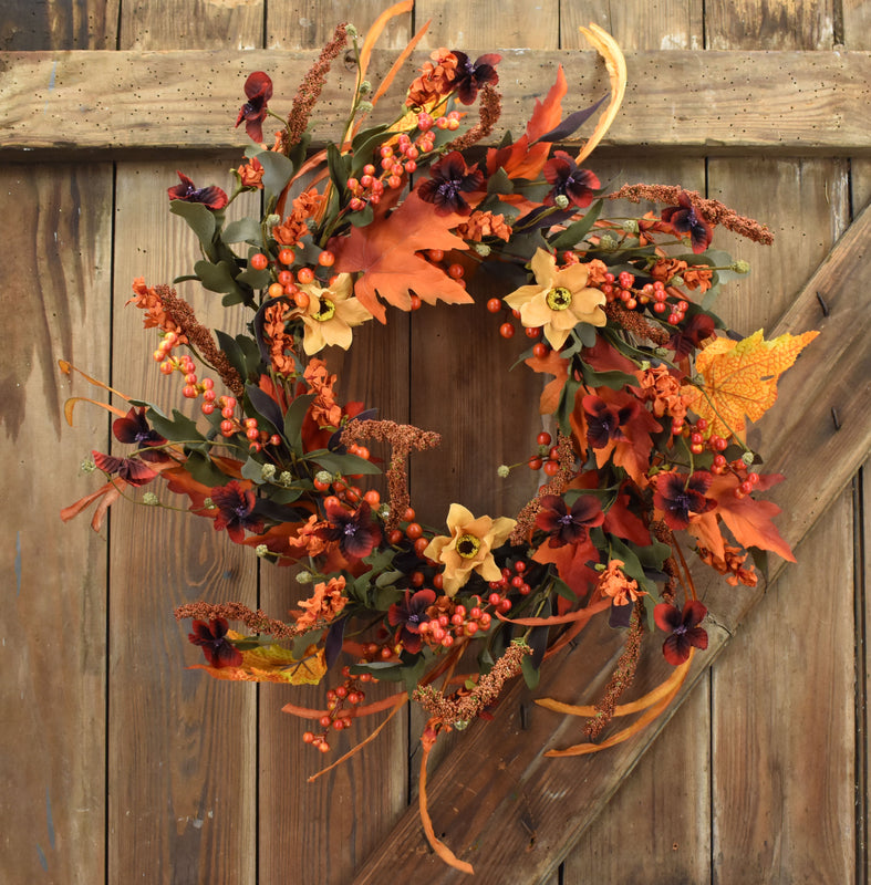 Autumn Foliage Wreath - 22 Inch