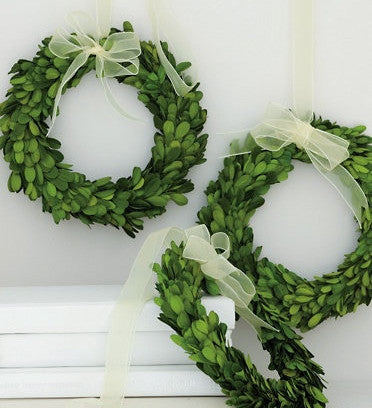 "Preserved Boxwood Round Wreath - 8"" - HOME DECORATIVE ACCENTS - 2"