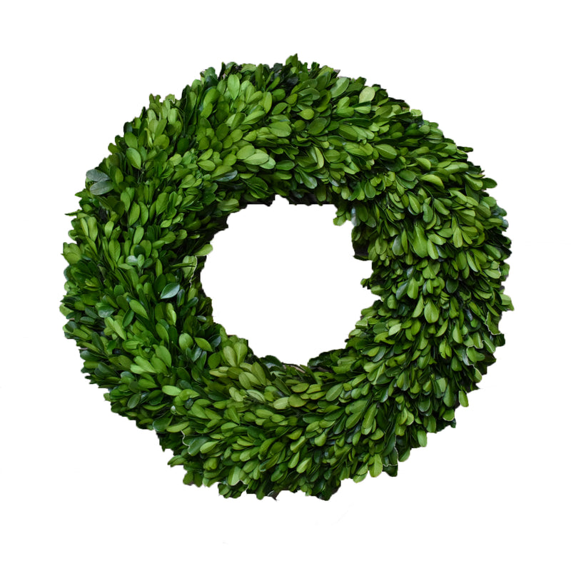 Preserved Boxwood Round Wreath - 16""
