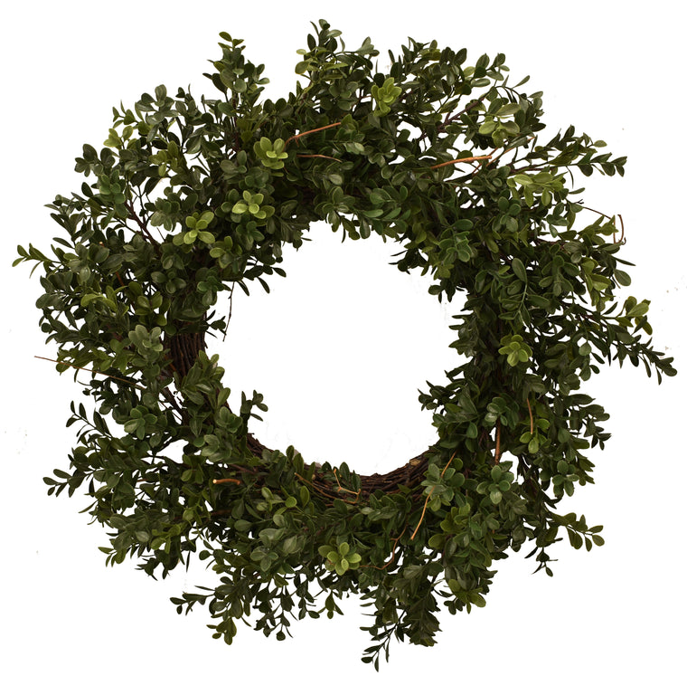 Boxwood Wreath Artificial 26 Inch