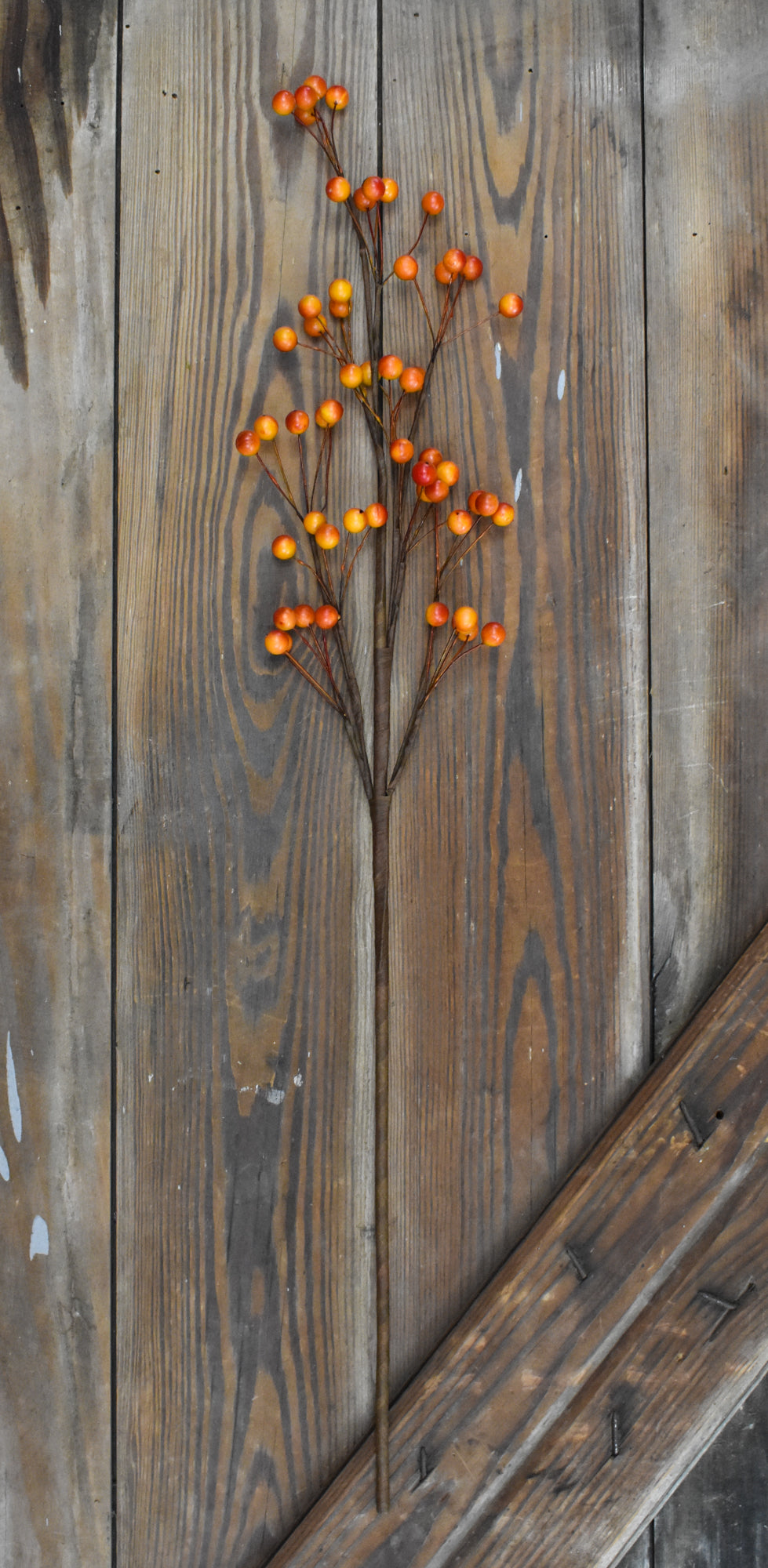 "Orange Berry Stem - 28"" - Set of 6 pcs"