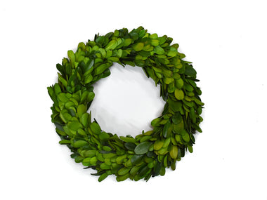 "Preserved Boxwood Candle Ring - 8"" - Set of 2"