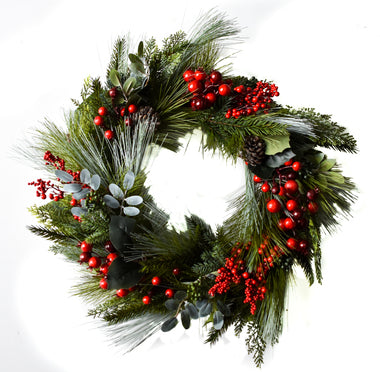 "Cedar Berry 22"" Wreath"