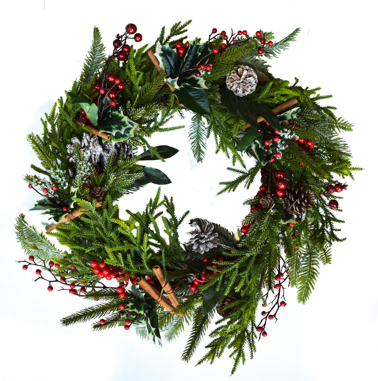 Cinnamon & Holly Berry Wreath - 22