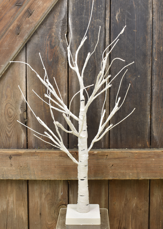 Lighted Birch Bonsai Tree - 18""