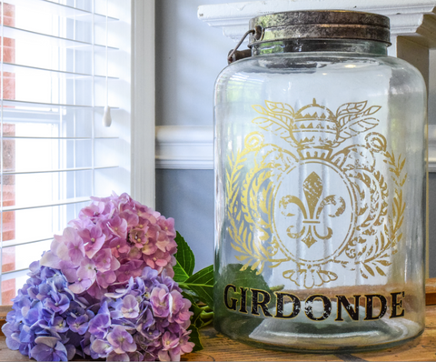 "Glass Girdonde Jar W/Lid - 11.5 x 8"" - HOME DECORATIVE ACCENTS - 1"