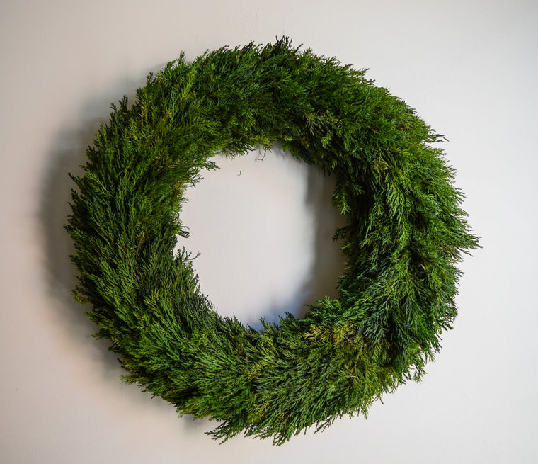 Preserved Tuscan Cypress Wreath - 20
