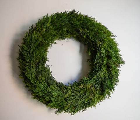 Preserved Tuscan Cypress Wreath - 20""