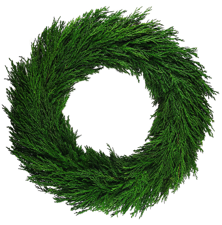 Emerald Cypress Wreath - 20