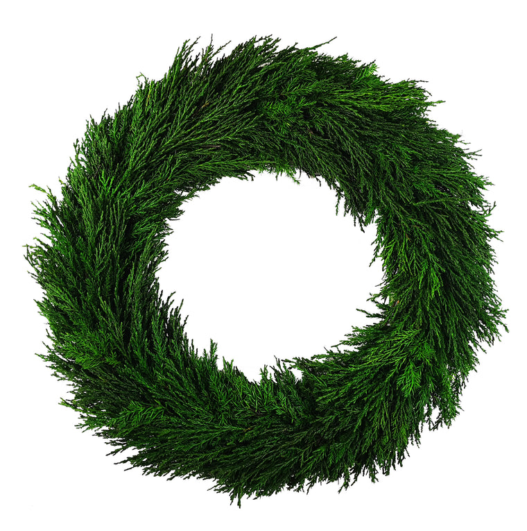 Emerald Cypress Wreath - 24