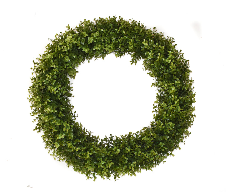 Faux Boxwood Round Wreath - 22