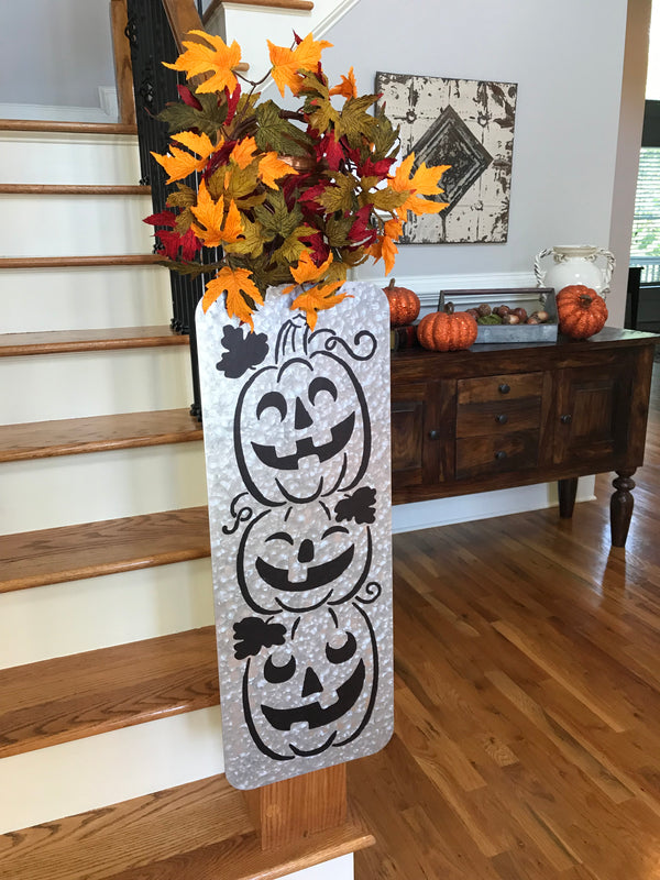 Jack-O'-Lantern Pumpkin Galvanized Sign